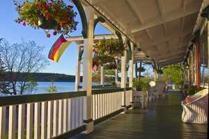 The Lake House is open year-round but is particularly lovely in the summer on one of the largest lakes in the state.