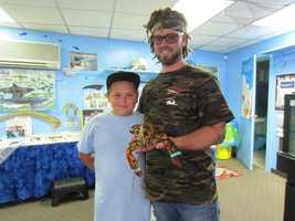 Local lobsterman, Josiah Beringer, donated the creature to the Explore the Ocean World, Oceanarium in Hampton.