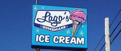 3 tie. Lago's Ice Cream in Rye