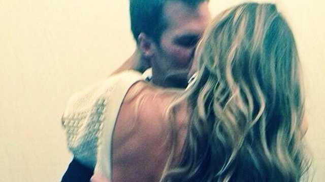 Brady Bundchen Birthday Kiss