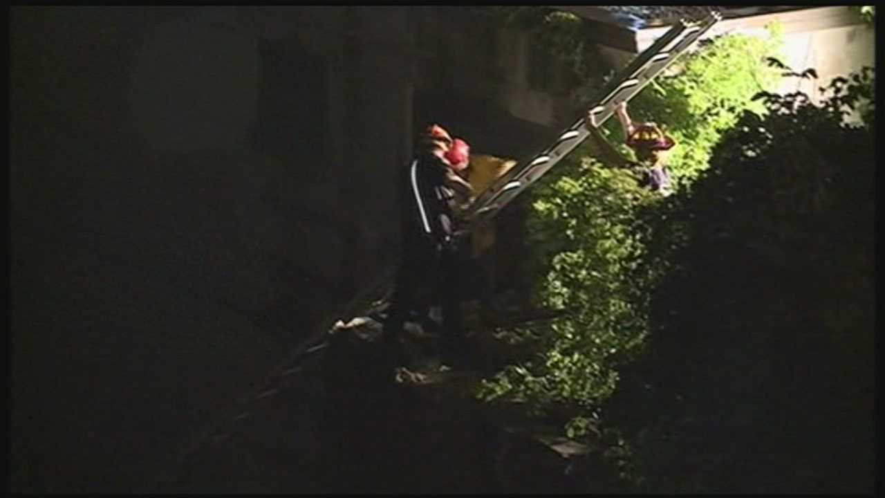Two men had to be rescued from the Suncook River in Pembroke. WMUR's Jean Mackin reports.