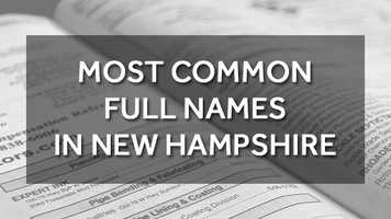 Over the past few weeks, we shared the most common first and most common last names in the Granite State. Now,see if your name is among the most common FULL names in the state, according to WhitePages.com.