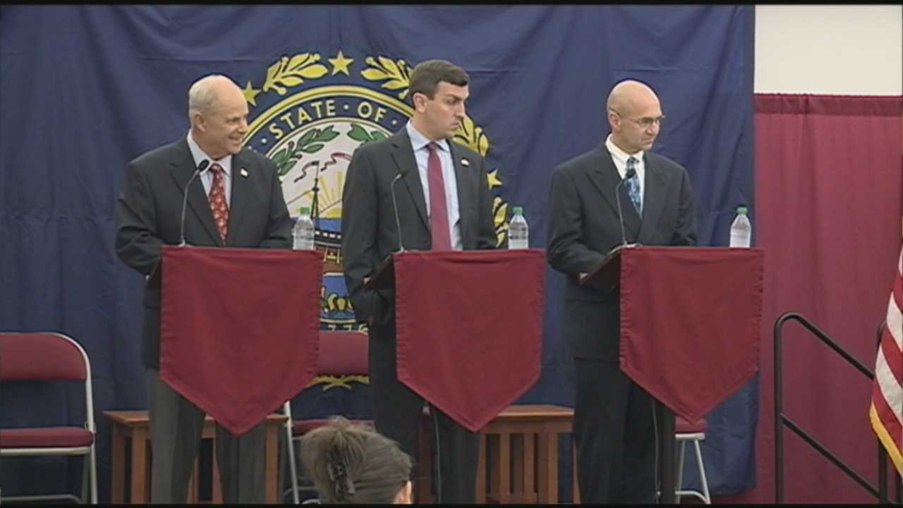 The Republicans who hope to run for governor debated at Franklin Pierce University. WMUR's Heather Hamel reports.