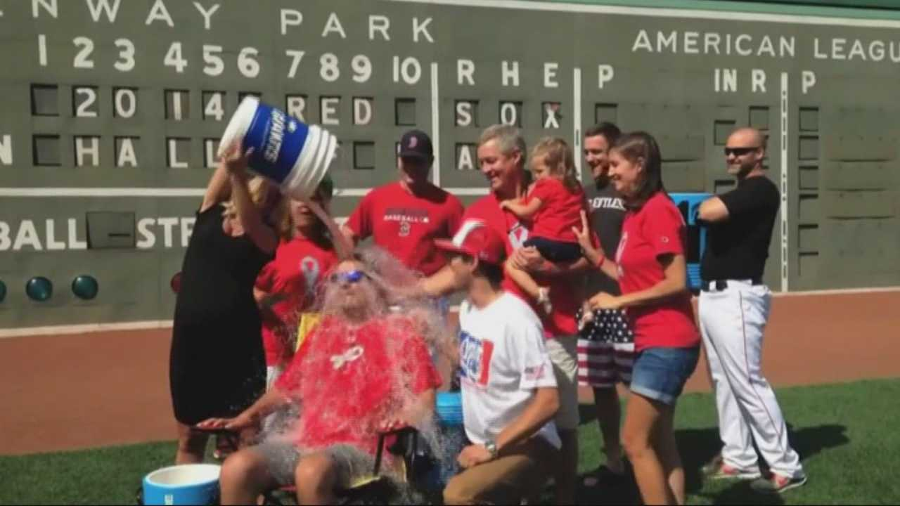 Pete Frates takes part in Ice Bucket Challenge