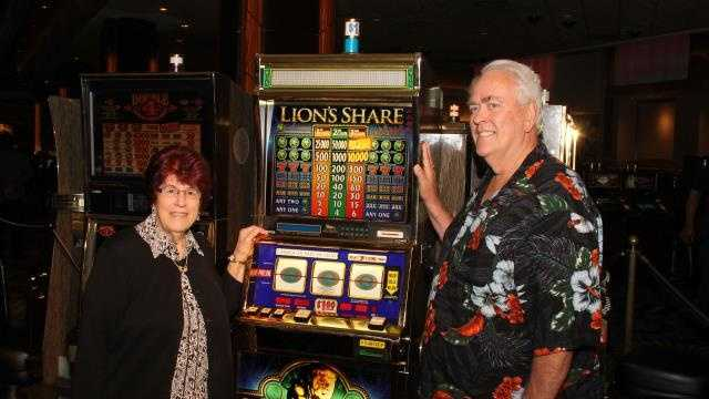 A Chester, New Hampshire, couple are $2.4 million richer after winning the jackpot from a slot machine on the Las Vegas Strip.