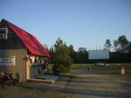 Pull up your car and enjoy an outdoor movie at the Northern Lights Drive-In