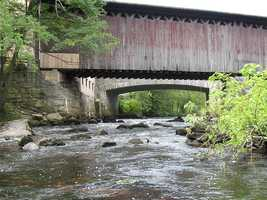 Railroad Bridge in Hopkinton, N.H.Originally constructed in 1849-50, with major reconstruction in 1889.The structure was originally built when the Concord and Claremont Railroad laid its first 33 miles of track from Concord to Bradford, N.H.