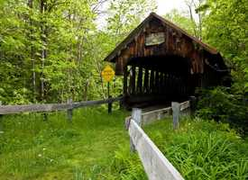 Blacksmith Shop Bridge in Cornish, N.H.Constructed in 1881.The bridge was given its name because of its close proximity to a local blacksmith shop that once stood in an area known as Slab City.
