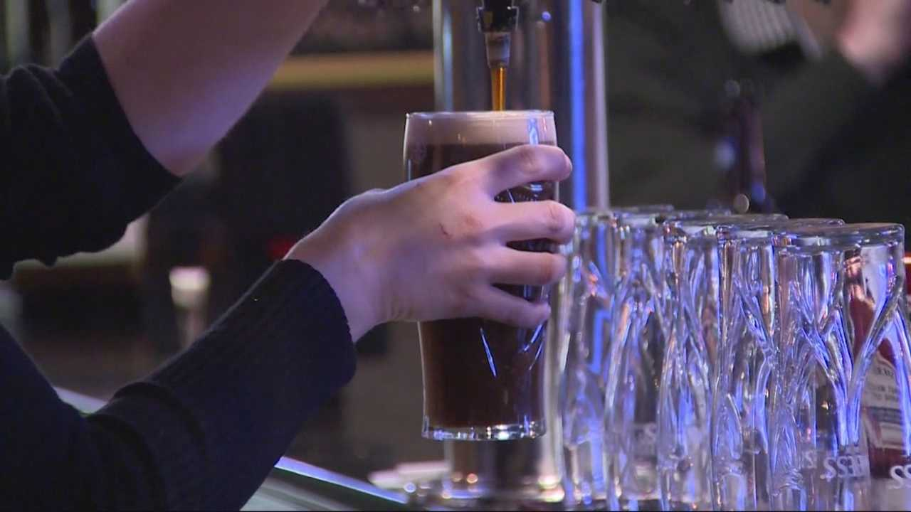 Generic Bar Beer being poured