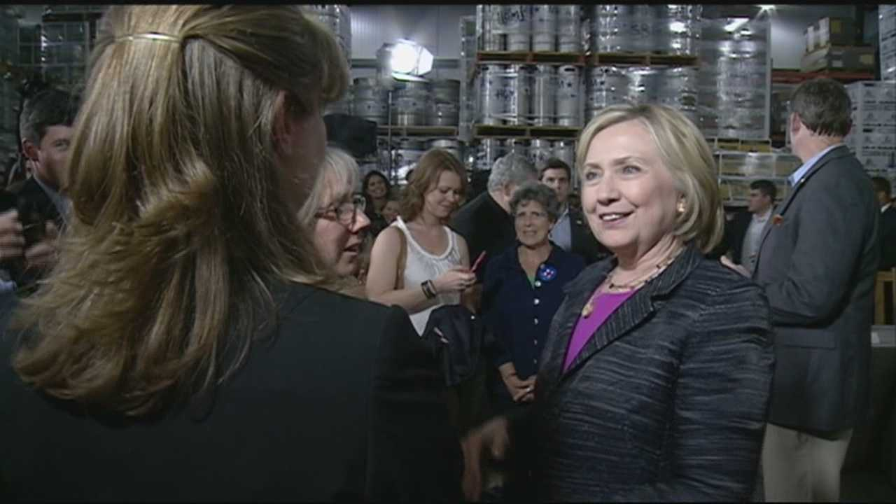 Clinton emails released during visit to NH