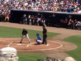 A Yankees batter steps up to the plate. (Angela Rozier/WPBF)
