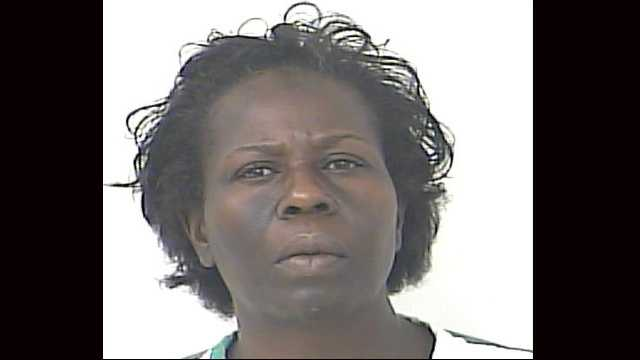 Celestine Baker faces drug possession charges after police in Fort Pierce said a bag of cocaine fell out of her pocket.