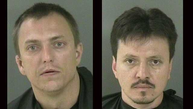 Justin Shane (left) and Pedro Zambora were arrested after a high-speed chase in Vero Beach.