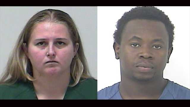 Melissa Mounts (left) and Tony Williams are accused of stealing from a Walmart in Fort Pierce.