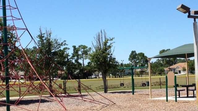 Police say an 11-year-old boy set fire to this playground in Port St. Lucie. (Angela Rozier/WPBF)