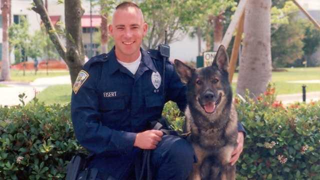 Port St. Lucie police Officer Tom Eisert died of cancer Sunday. (Port St. Lucie Police Department)