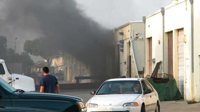Nobody was injured in this warehouse fire in Delray Beach (Courtesy of Delray Beach Fire Rescue)