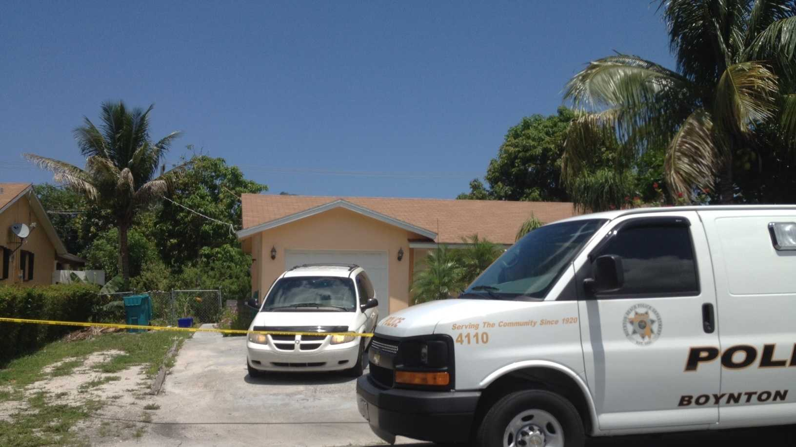 Police say a woman was found dead in the bedroom of this Boynton Beach home.