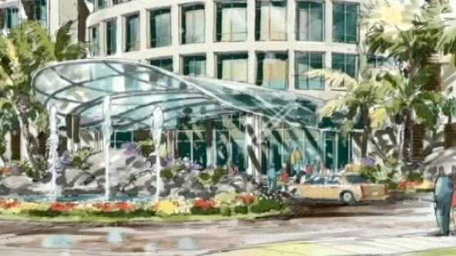 This is a rendering of the luxury hotel planned for the Land of the Presidents in West Palm Beach.