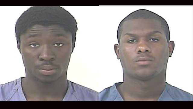 Isaiah Thompson (left) and Jaquan Saez are accused of burglarizing a woman's truck in Port St. Lucie.