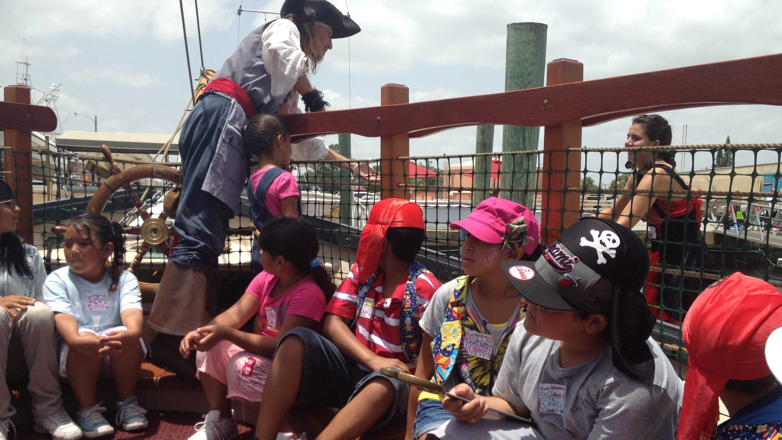 """These pediatric cancer patients get a chance to be pirates for a day aboard the """"Black Sparrow."""""""