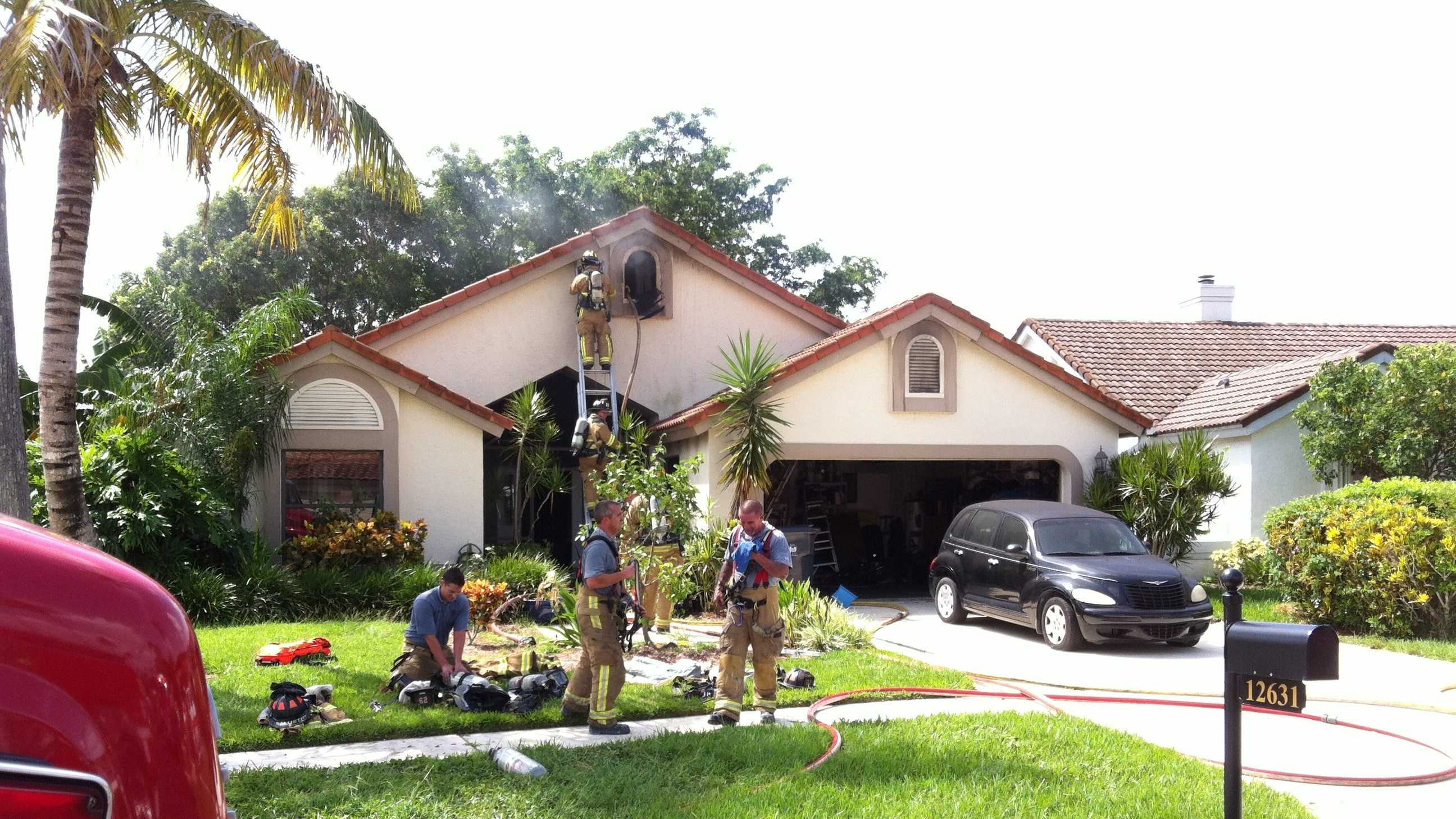 Five people, including three children, safely escaped a fire at this Wellington house.