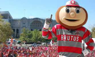 Ohio State's Brutus Buckeye was selected as the school's mascot in 1965 and has appeared in several national commercials.(Photo: Ohio State Athletics)