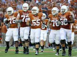 The burnt orange is unmistakable in Texas' home jerseys. (Photo: University of Texas)