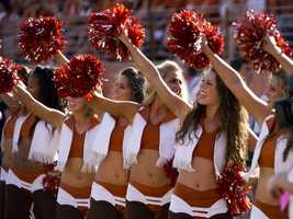 Everything is bigger in Texas, including the number of schools with well-known cheer squads. Texas is one of three on this list, more than any other state.  (Photo: University of Texas)