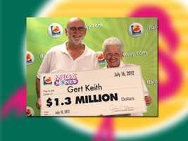Gert Keith of Crestview won $1.3 million.
