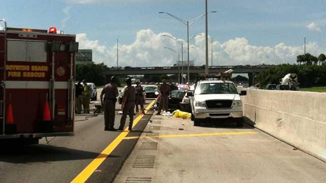 I-95 northbound Woolbright Road fatal crash