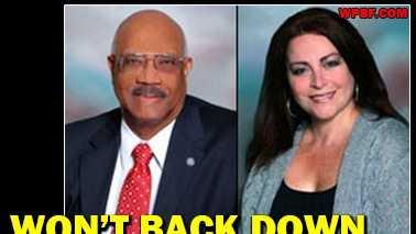 Boynton Beach Mayor Woodrow Hall says Commissioner Marlene Ross should resign, but she's saying not so fast.