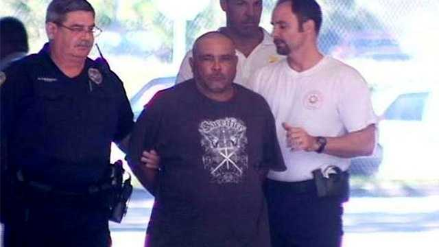 Justo Camacho-Villanueva turned himself in at the Port St. Lucie Police Department on Tuesday. (Photo: Greg Duncan/WPBF)