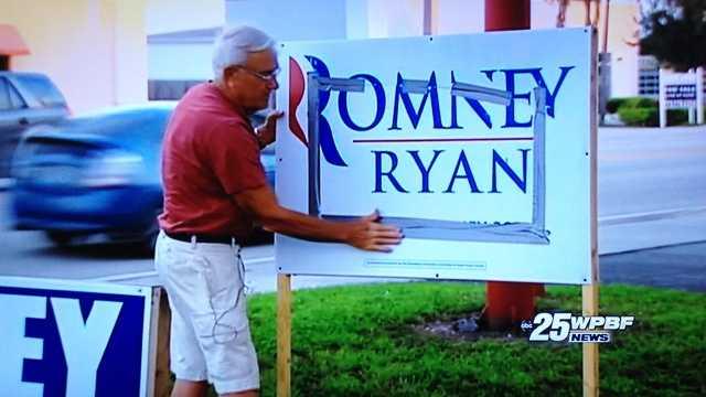 100912 Political Signs Romney Ryan