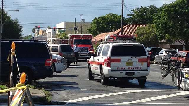Crews were called to an attorney's office in Lake Worth on Wednesday morning to remove grenades from the premises. (Photo: Angela Rozier/WPBF)