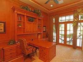 Beautiful views from this custom office