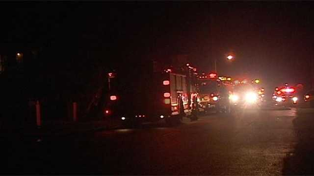 No injuries were reported when a fire broke out at an apartment complex in Lake Worth late Wednesday night.