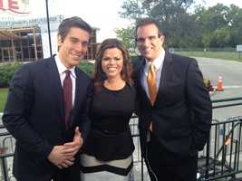 ABC's David Muir stops by to say hello to Felicia Rodriguez and Paul Lagrone.