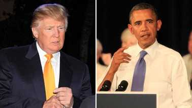 Donald Trump wasn't shy -- is he ever? -- in his reaction to President Barack Obama's successful re-election bid. (Photos: John P. Wise/WPBF)