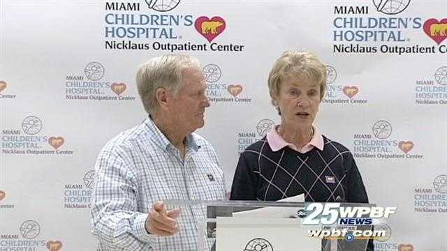 Jack and Barbara Nicklaus helped open a rehabilitation clinic in Palm Beach County.