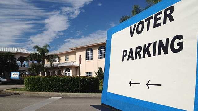 Problems with ballots were reported Tuesday morning at a polling location in Delray Beach. (Photo: Chris McGrath/WPBF)