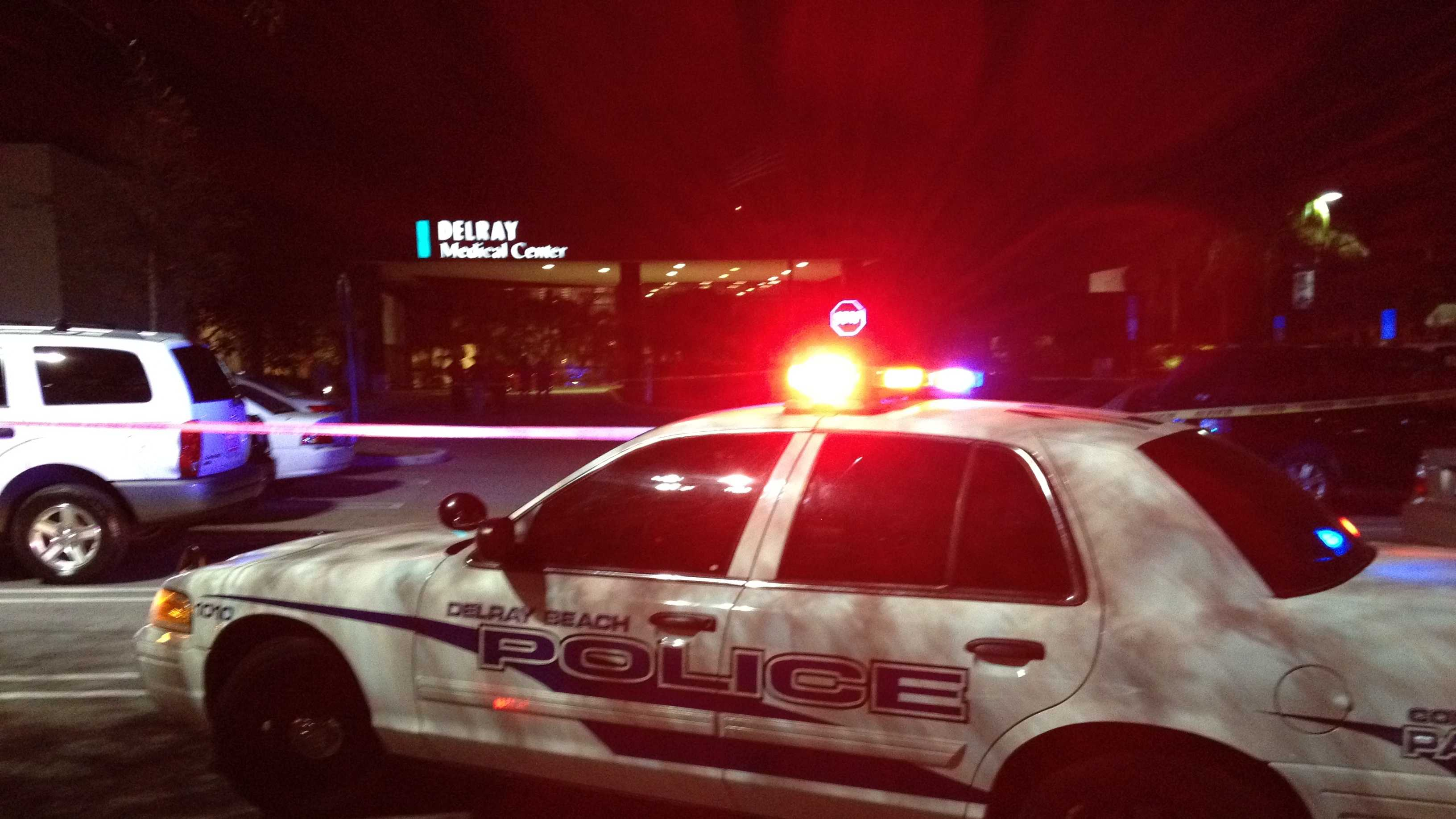 Two people were shot in the parking lot outside the Delray Medical Center on Nov. 8. (Photo: Ari Hait/WPBF)