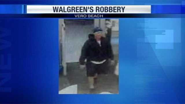 This thief was caught on camera robbing a Walgreen's store in Vero Beach on Nov. 9.