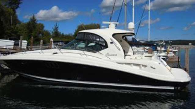 "The 44-foot luxury boat named ""Serenity Now"" was stolen from the Allied Marine marina in Stuart."