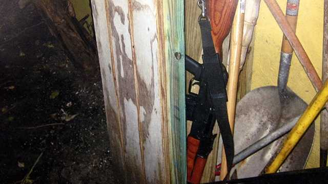 Authorities recovered this AK-47 from a home in West Palm Beach after getting a call from a man who said he saw a man waving it around at a park.