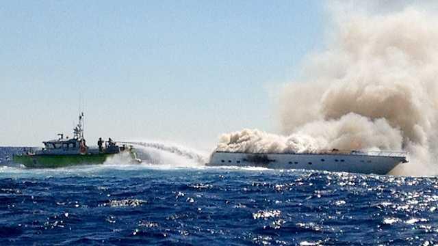 Miami Beach Yacht Fire