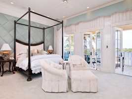 Beautifully decorated bedrooms, featuring a padded wall.