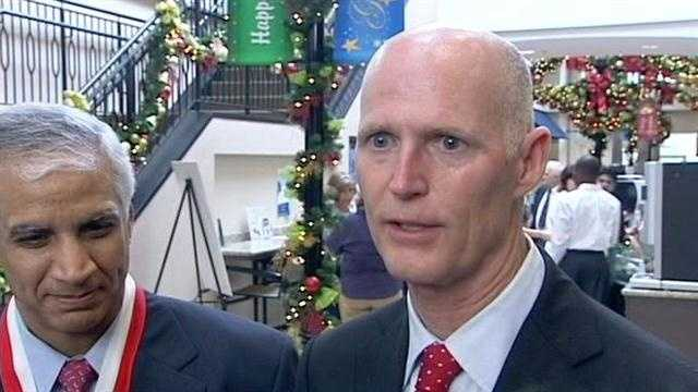 Gov Rick Scott is in Boca Raton for the announcement that ADT will bring 120 new jobs to its corportate headquarters.