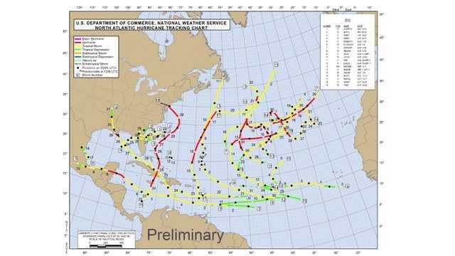 2012 hurricane track