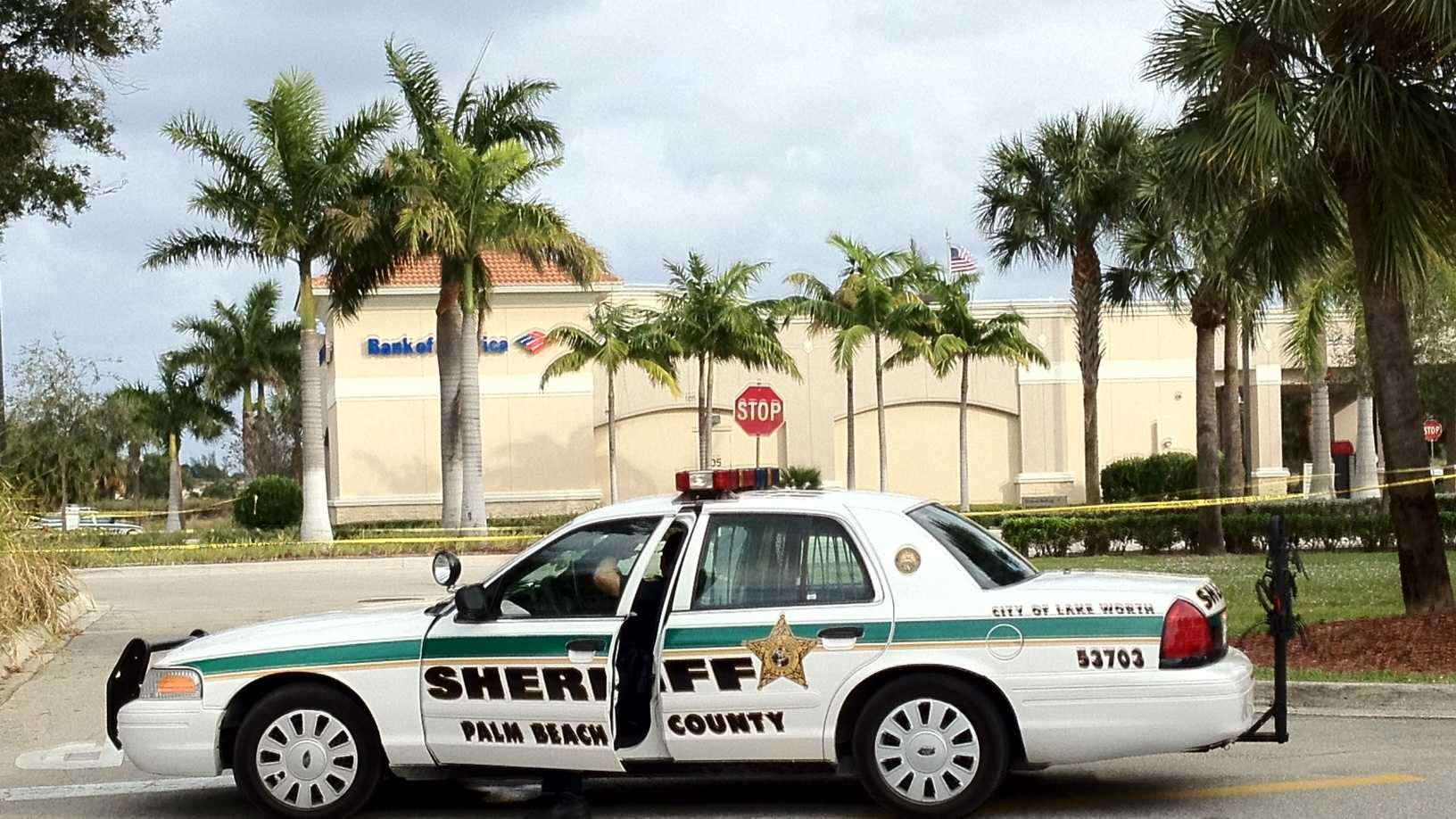 Deputies are investigating a robbery at the Bank of America branch in Lake Park.